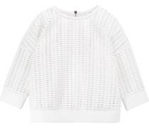 Laser-cut Neoprene Sweatshirt Weiß