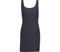 Italian Wave Stitch Stretch-jersey Mini Dress Mitternachtsblau