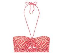 Fiorella Georgia Bandeau-bikini-oberteil mit Cut-outs und Zebraprint