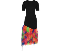 Woman Embellished Ponte Midi Dress Black
