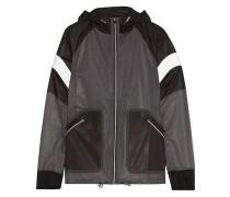 Wave paneled polka-dot shell jacket