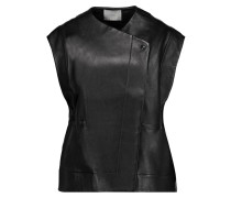 Iris Leather Vest Schwarz