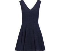 Auriga Crocheted Cotton-blend Mini Dress Indigo