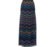 Isadorra printed silk-chiffon maxi skirt