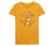 Metallic Printed Cotton-jersey T-shirt