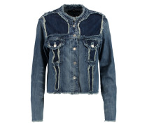 Toni Frayed Denim Jacket Mittelblauer Denim