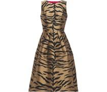 Flared Zebra-jacquard Dress