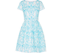 Printed Cotton Dress Hellblau