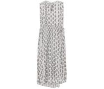 Shirred Floral-print Mousseline Dress