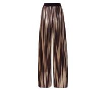 Elba Pleated Lamé Wide-leg Pants