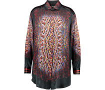 Printed Silk Shirt Schwarz