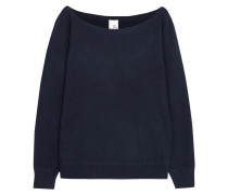 Off-the-shoulder Cashmere Sweater Navy
