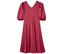Marlen Kleid aus Satin mit Gürtel