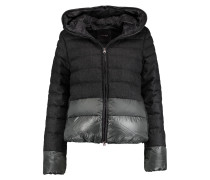 Alana Quilted Wool-blend Hooded Coat Schiefer