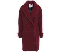 Sixty Double-breasted Brushed-bouclé Coat