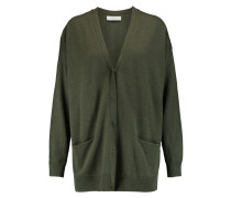 Girl Oversized Wool And Cashmere-blend Cardigan Armeegrün