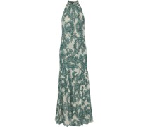 Leeann Floral-print Metallic Fil Coupé Georgette Gown