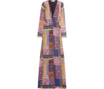 Printed Silk Gown Mehrfarbig