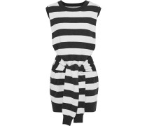 The Suns Out Tie-front Striped Cotton And Cashmere-blend Mini Dress