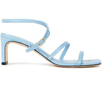 Sandalen aus Leder mit Krokodileffekt