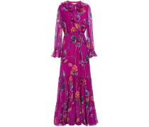 Anna Pussy-bow Floral-print Silk-georgette Maxi Dress