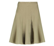Pleated stretch-cotton skirt
