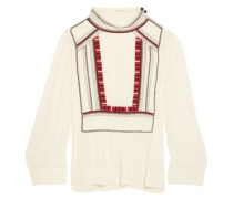 Cerza embroidered crepe blouse