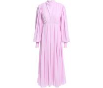 Roselle King Pleated Crepe Midi Dress
