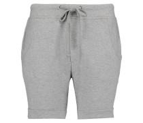 Cotton-blend Jersey Shorts Grau