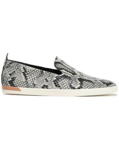 Vero Snake-print Leather Slip-on Sneakers Animal Print