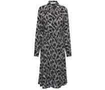 Julee Pleated Printed Silk Crepe De Chine Shirt Dress