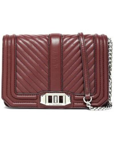 Quilted Leather Shoulder Bag Merlot Size --