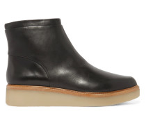 Kimmie Leather Ankle Boots Schwarz