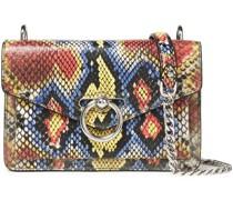 Jean Snake-effect Leather Shoulder Bag