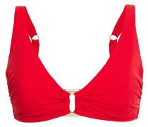 Snake-print Bandeau Bikini Top