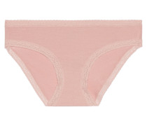 Marnie Low-rise Lace-trimmed Stretch-micro Modal Hipster Briefs Pink