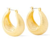 Hammered -plated Hoop Earrings