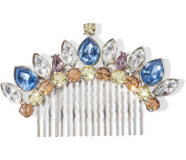 Silver-tone Swarovski Crystal Hair Slide