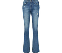 The Slit Slim mid-rise distressed bootcut jeans
