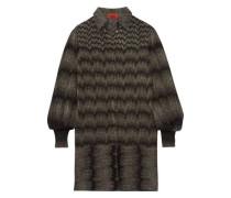 Metallic crochet-knit shirt