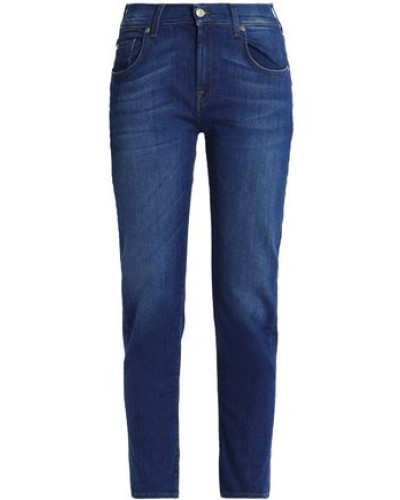 Faded Mid-rise Slim-leg Jeans Mid Denim  5