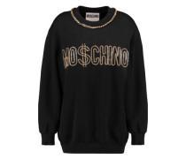 Chain-embellished jersey sweatshirt