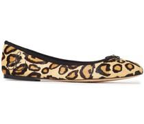 Felicia Ballerinas aus Kalbshaar mit Leopardenprint