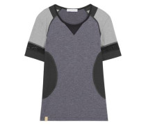 Hi-Performance mesh-trimmed stretch-jersey T-shirt