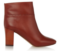 Leather Ankle Boots Ziegelrot