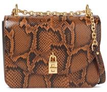 Love Too Snake-effect Leather Shoulder Bag