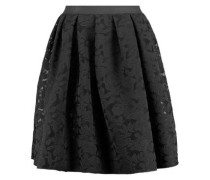 Janice pleated embroidered mesh skirt