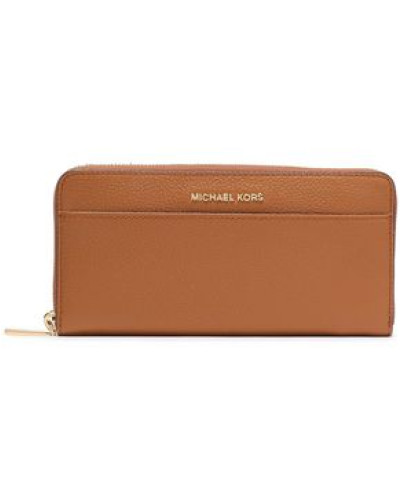 Pebbled-leather Wallet Light Brown Size --