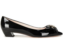 Ball 25 Bow-embellished Patent-leather Pumps