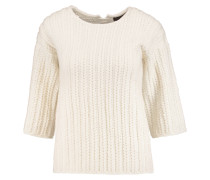 Merino Wool And Cashmere-blend Sweater Creme